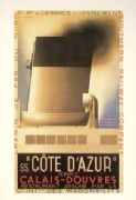 French shipping poster - S.S Cote D'Azur 1931